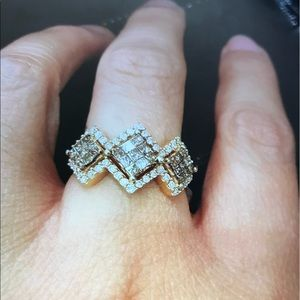Jewelry - 14k Yellow gold 1 carat Diamond Ring Size 7